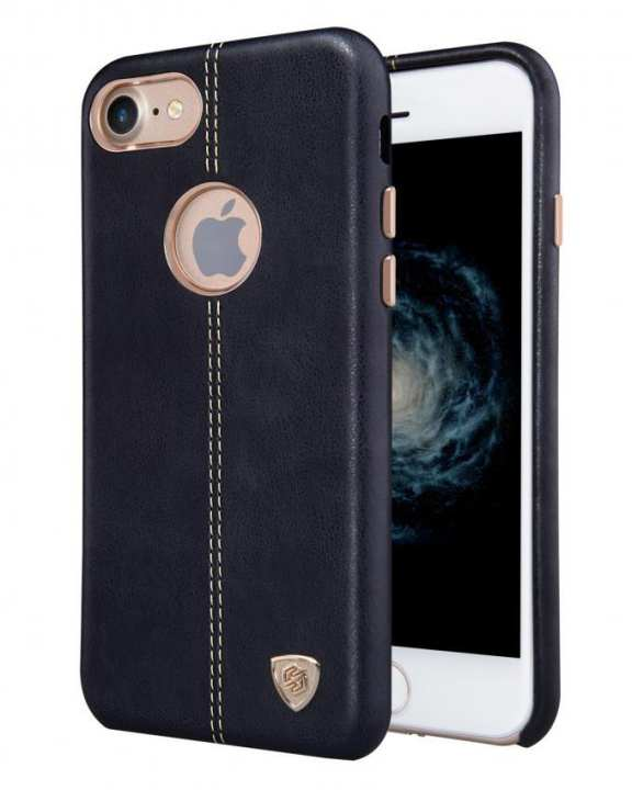 Englon Leather Back Cover for iPhone 7 - Black