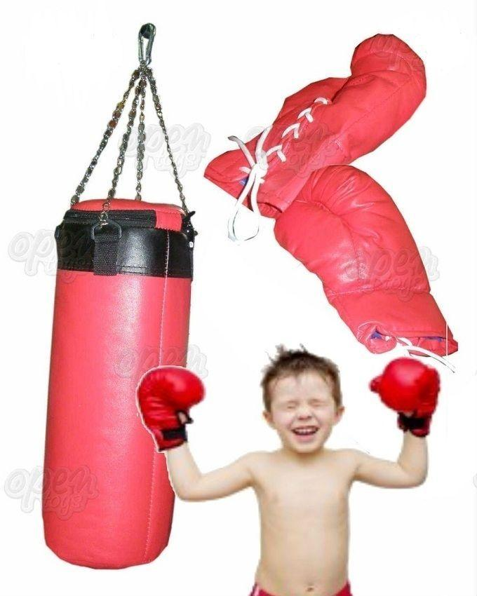 Punching Bag Set with Gloves For Kids 1.5 feet - Red