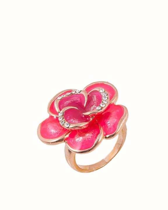 Enameled Flower Ring