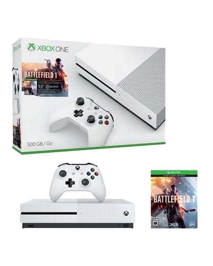Xbox One S - 1TB Console - Battlefield 1 - White