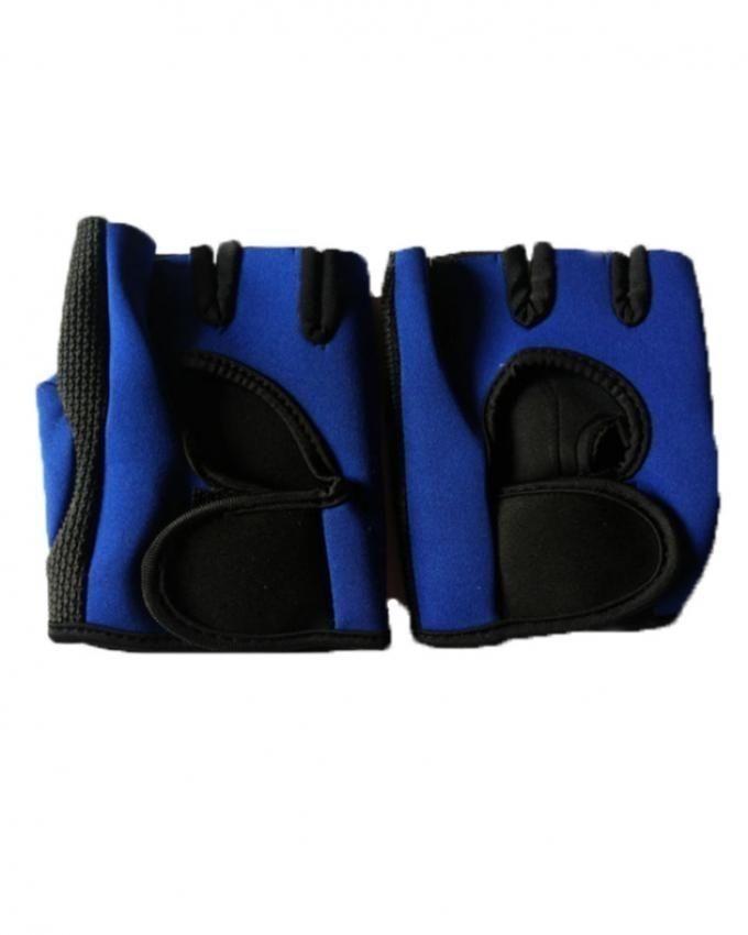 Protection Neoprene Gym Training Gloves - Blue & Black