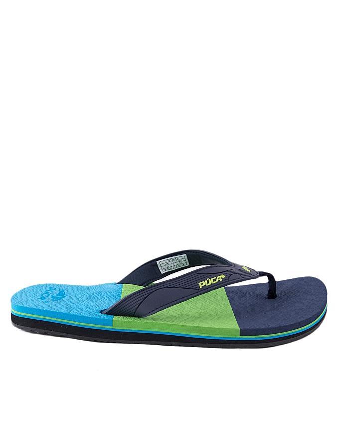 Navy Blue Synthetic Flip Flops for Men