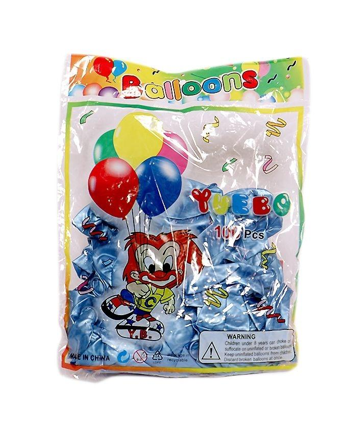 Pack of 100 - Balloons With Air Pump - Multicolor