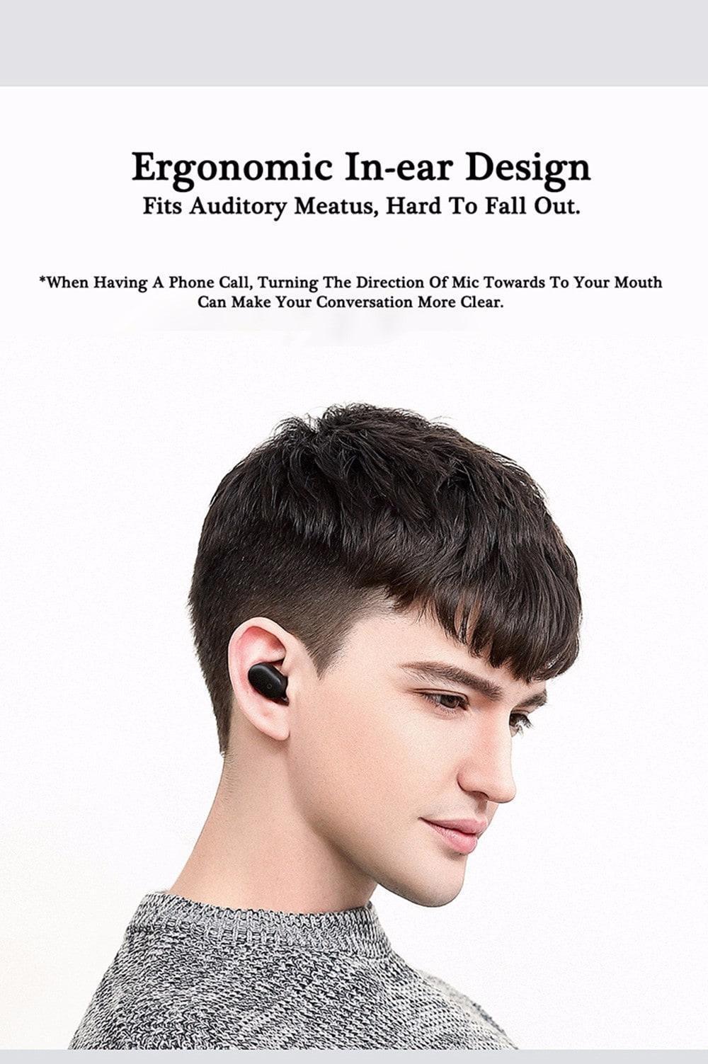 Original Xiaomi LYEJ05LM Mini In-ear Single Bluetooth Earphone Wireless Ultralight IPX4 Waterproof Earbud with Magnetic Charging- Black