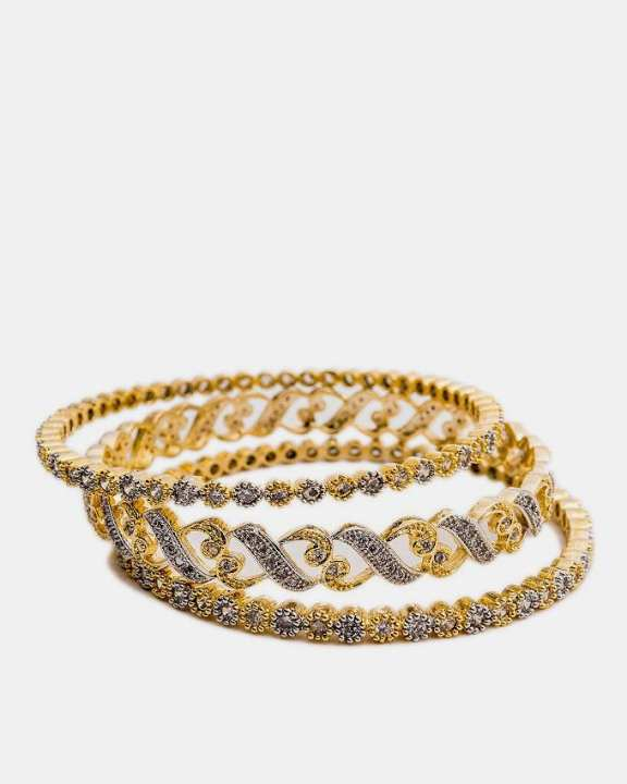 1k Gold Plated Atalian Bangles Set