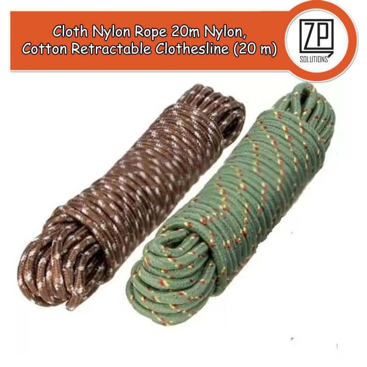 Cloth Nylon Rope 20m Nylon, Plastic, Cotton Retractable Clothesline (20 m)