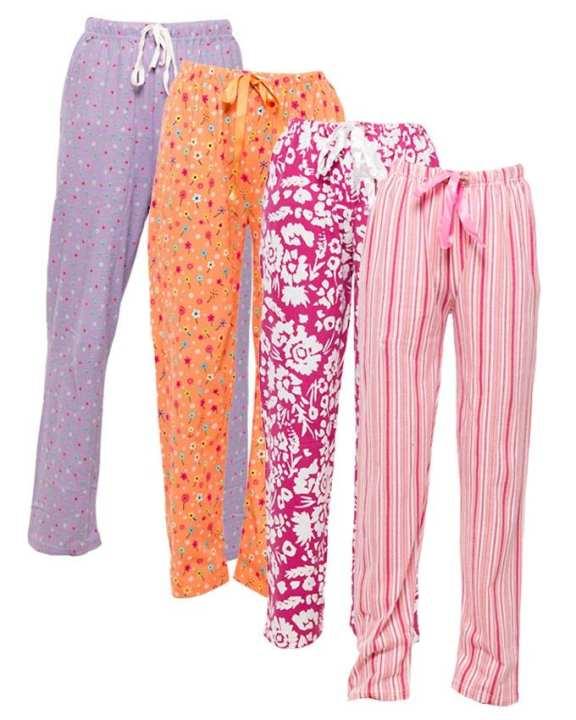 Pack of 4 Printed Pajamas for Women
