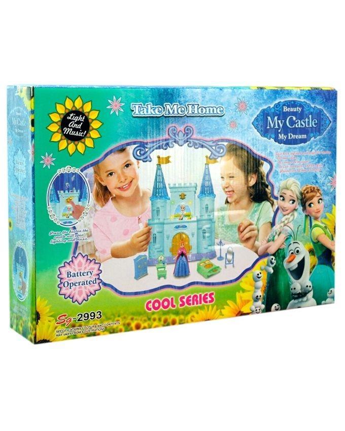 Frozen Princess Castle Doll House for Kids - Multicolor