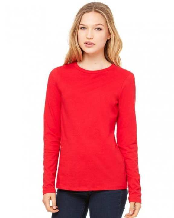 Red Cotton T-Shirt For Women