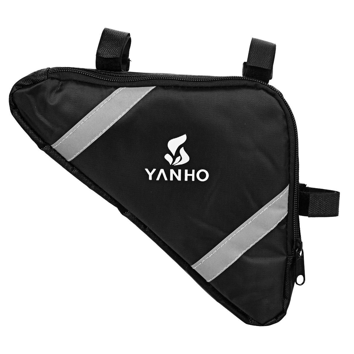Yanho YA085 Cycling Oxford Cloth Bike Top Tube Triangle Bag - Black