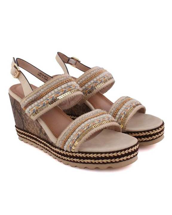 Belinda Low Heel Wedge Sandals for Women L29538