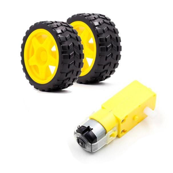 Smart Car Robot Gear Motor and Tyre for arduino Diy Kit