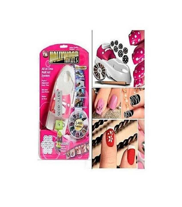 Hollywood Nails Nail Art System - Pink
