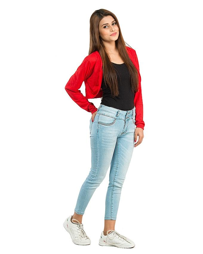 Red  Mini Shrug For Women