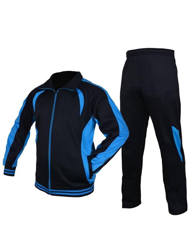 da618a405d01 Blue   Black Polyester Tracksuit for Men
