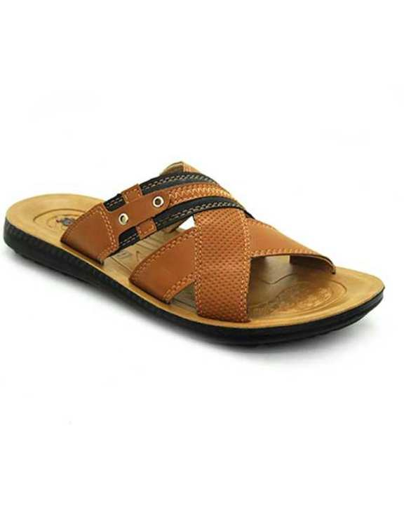 Weinbrenner Summer Brown PU Synthetic Sandals For Men