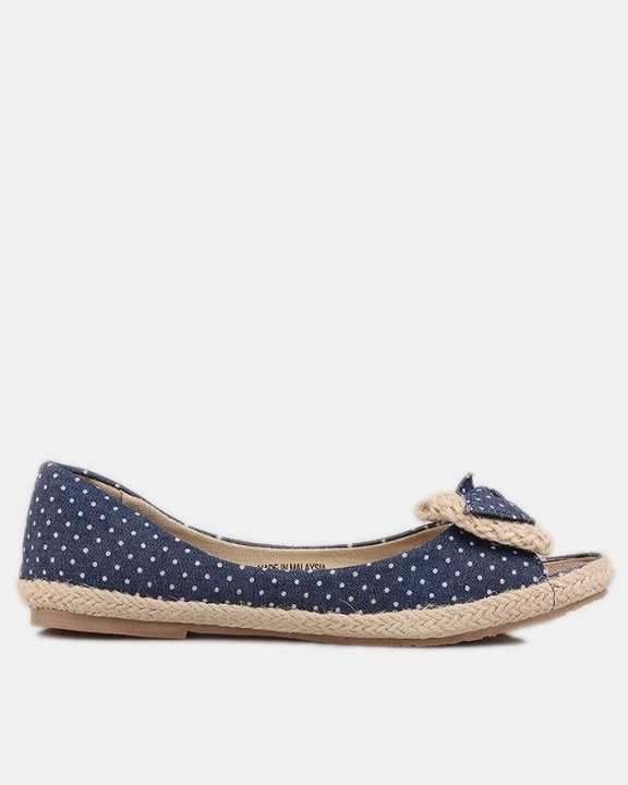 Blue Thermo Plastic Rubber & Fabric Jeans Ballet Flats For Women - Hilly 7076-Blue