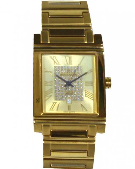Romanson TM2147 MG GD - Gold Plated Wrist Watch for Men