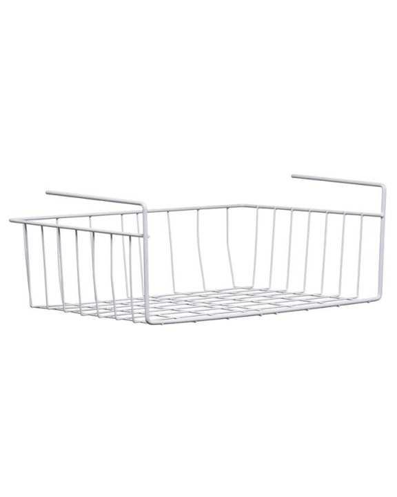 Heavy Duty Under Shelf Storage Basket, White