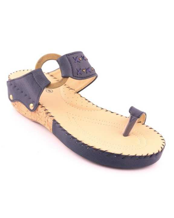 Blue Synthetic Casual Chappal for Women