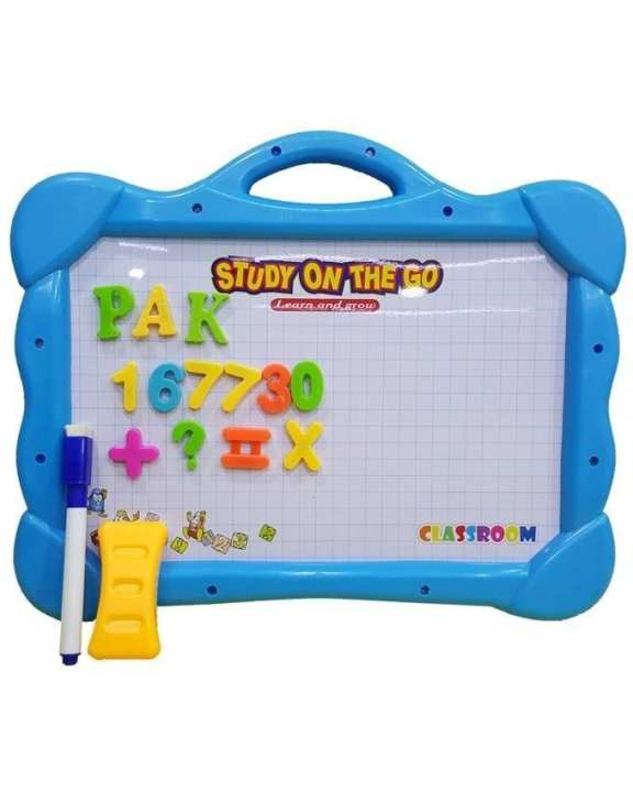 Magical Drawing Board with Magnetic Figures - Blue
