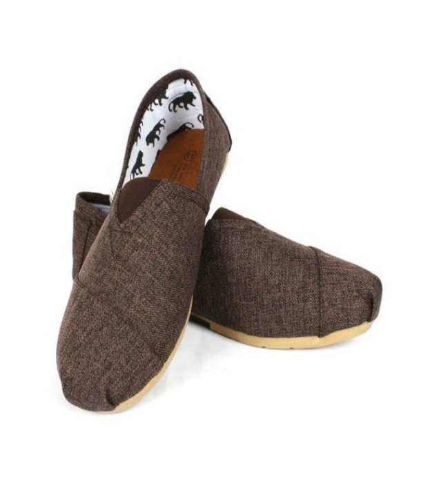Brown Canvas Shoes For Men