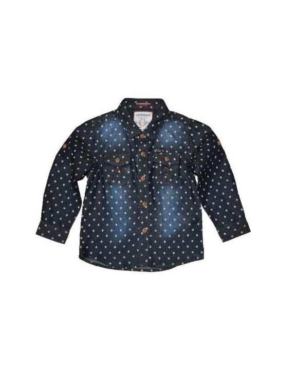 Blue Cotton Shirt For Boys