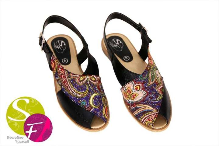 Multicolor Rexine Sandals for Women