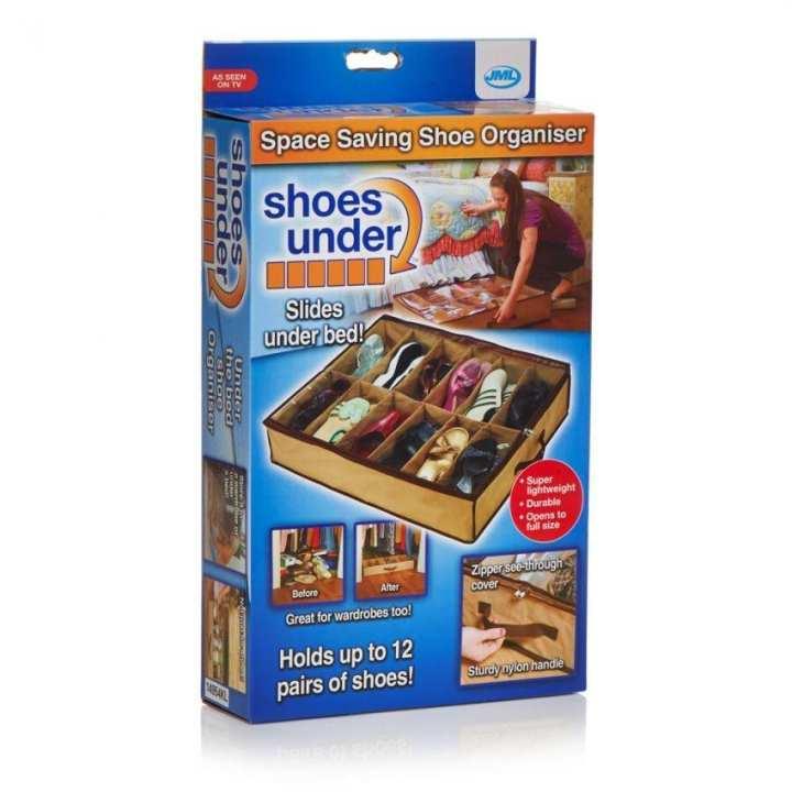 12 Shoes Closet Organizer Storage Rack - Brown