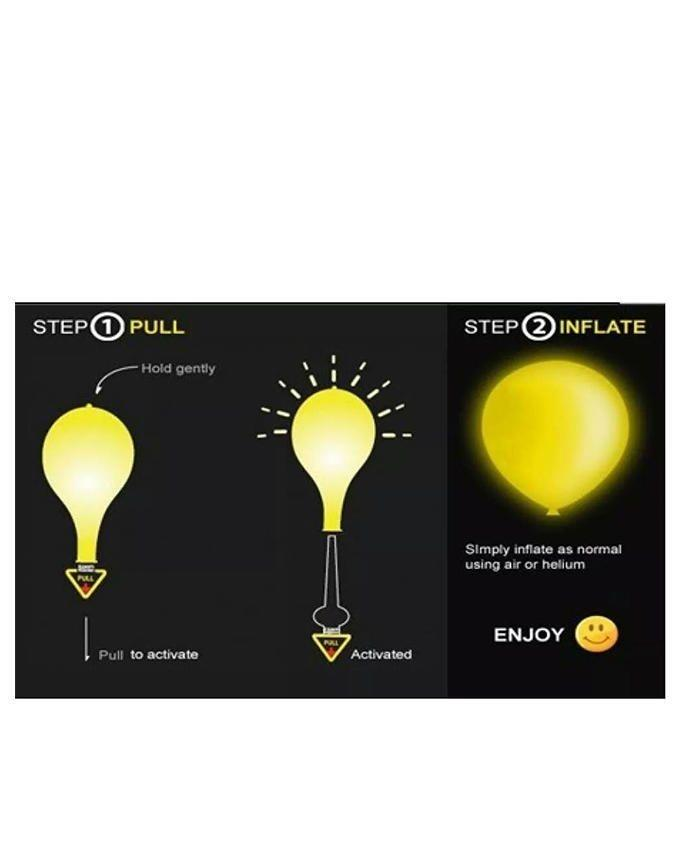 Pack of 5 - LED Balloons - Multicolor