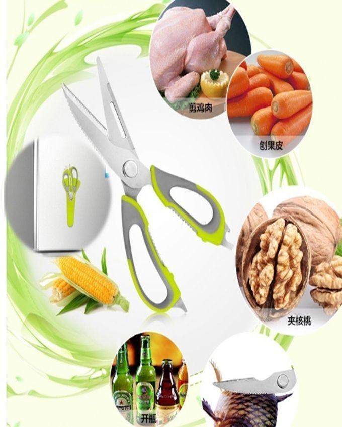 Mighty Shears Kitchen Scissors - Green & Silver