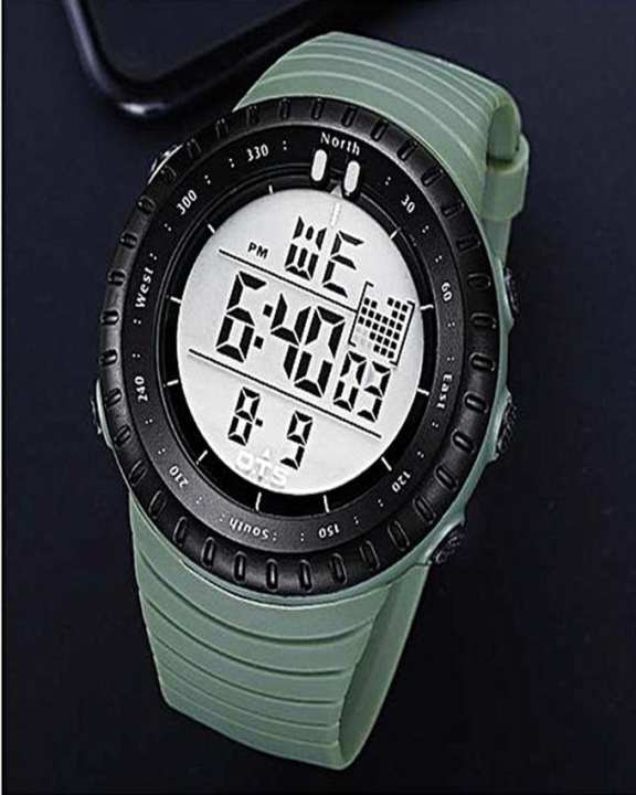Military Sports Digital Rubber Straps Watch for Men