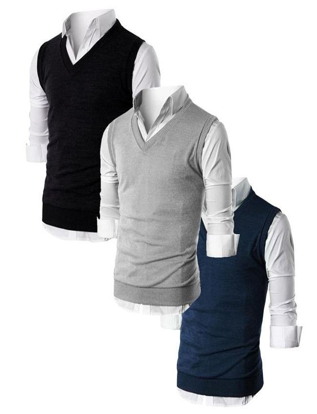 75449e34b17 Pack Of 3 - Multicolor Fleece Sleeveless Sweater - Name