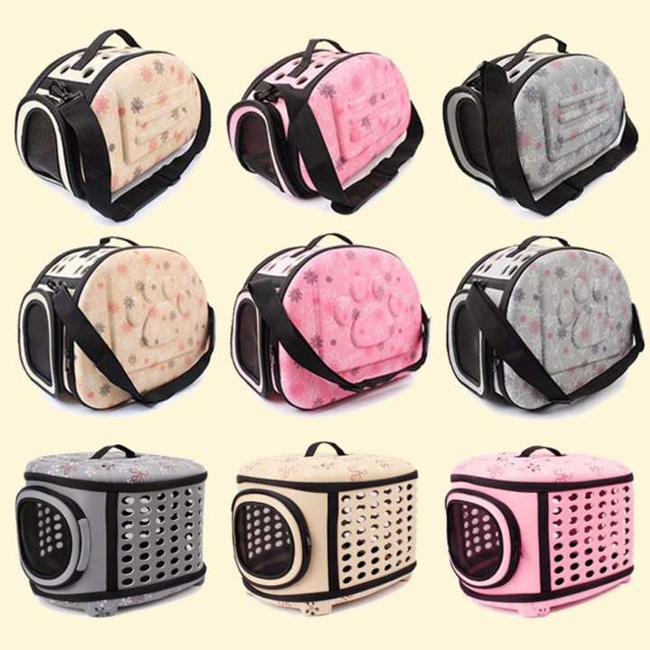 Eva Folding Pet Carrier Puppy Dog Cat Outdoor Travel For Small Dog Pet Dog Soft Kennel Pet Carrier Bag Yellow/L