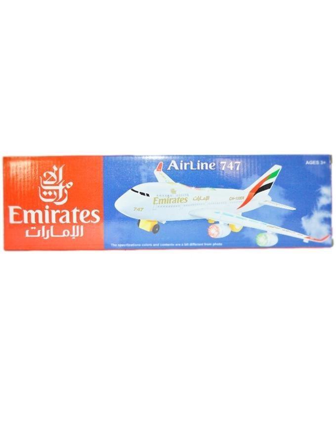 Emirates Airline 747 Plane - White