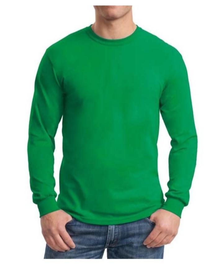 21e6d23f659 Full Sleeve Cotton Tshirt For Men - Green