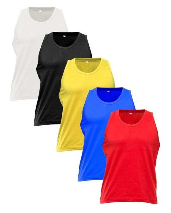 Multicolor Jersey Pack of 5 Tanktops