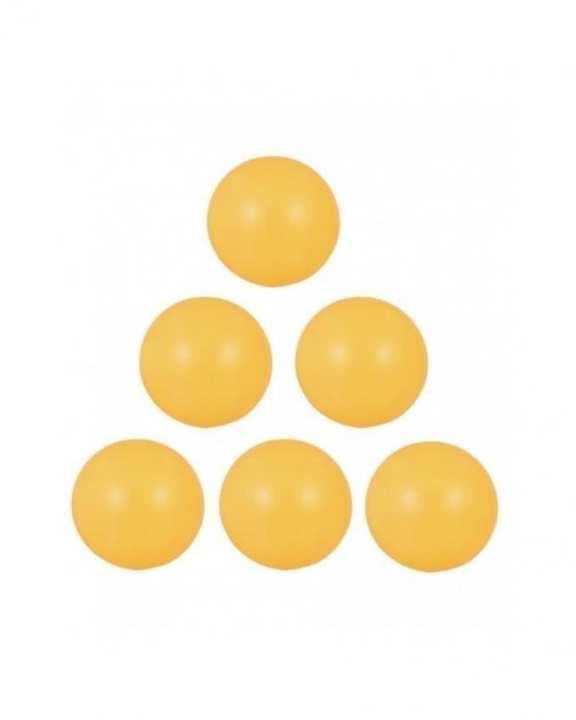 Pack of 6 - Table Tennis Balls - Orange