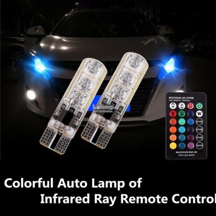1 pair Colorful Automatic Lamp Infrared Ray Remote Control