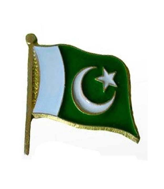 Pakistan Flag Badge- Metal