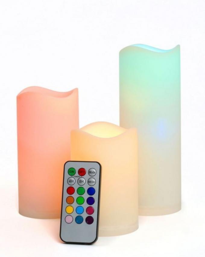 Set of 3 - Luma Candles - Multicolour