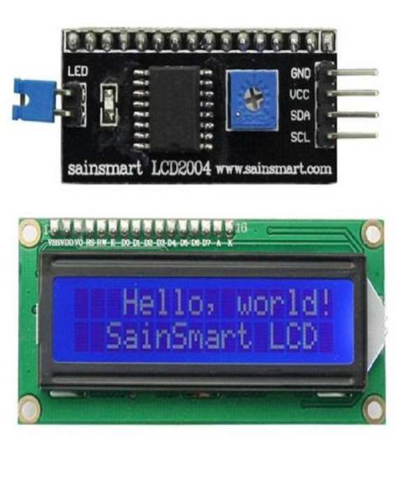 LCD 16x2 with IIC I2C LCD Module For 16×2 And 16×4 LCD for DIY Projects Arduino and Microcontrollers