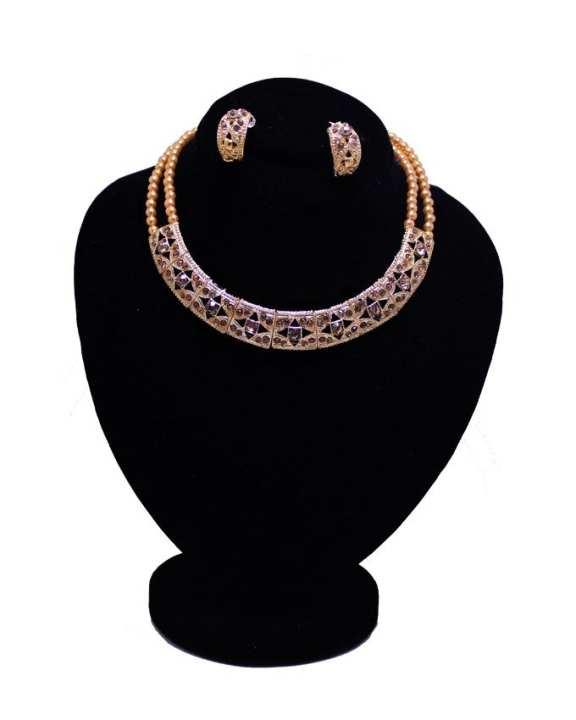 Golden Metal Jewellery Box & Set For Women