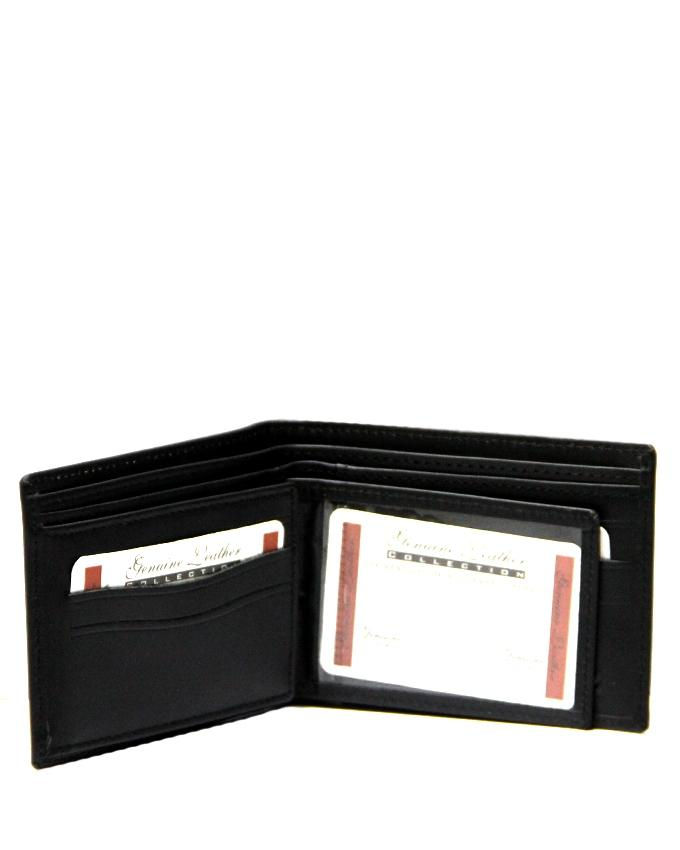 Black Leather Wallet for Men - 0532-4HAMIZ001