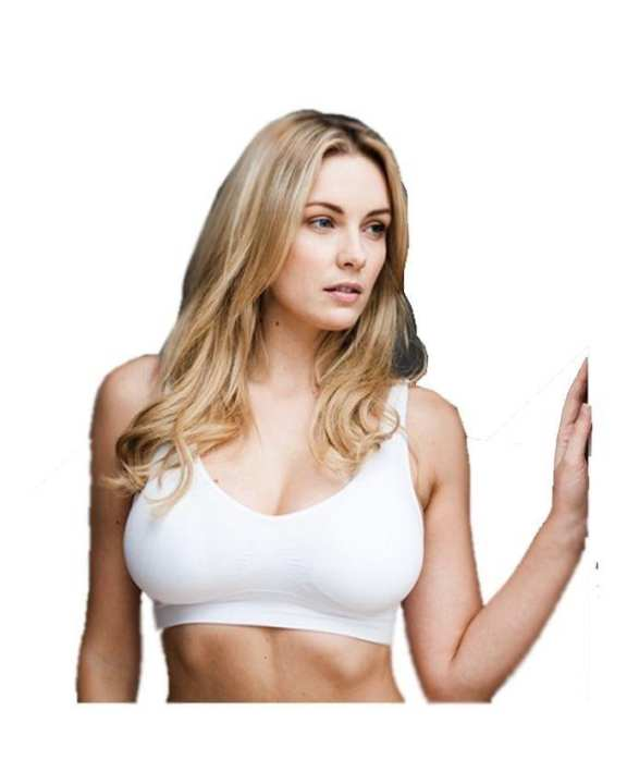 Pack of 2 - Cotton Adjustable Air Bra for Women - White