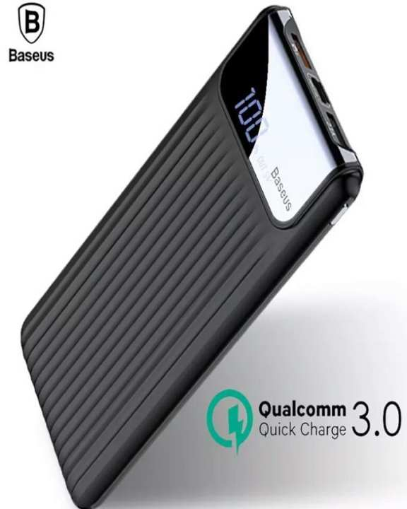 Baseus Power Bank  10000mAh LCD Quick Charge 3.0 Dual USB For All Phones - Multi