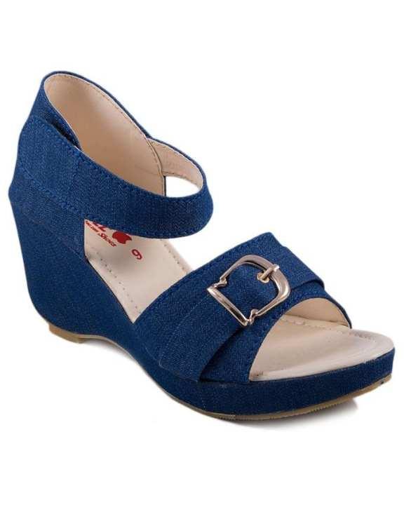 BRANDSTITCH - Navy Blue Artificial Block Heels For Women