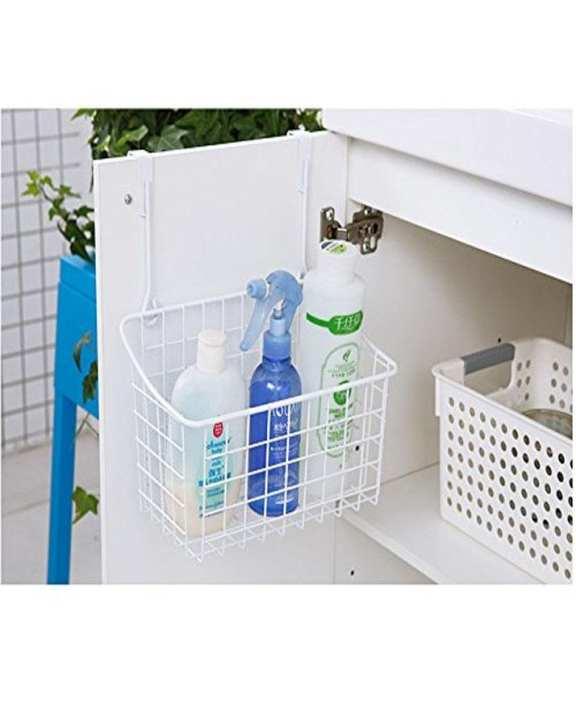 Delux Spice Jar And Food Storage Rack Cupboard Attatchemnt - Kitchen Space Saver White Metal