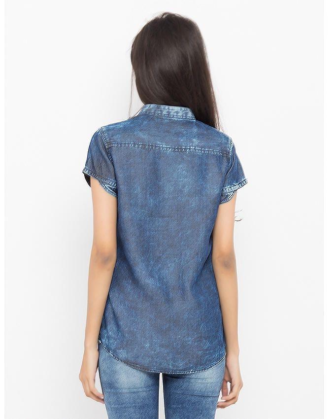 Blue Denim Shirt For Women