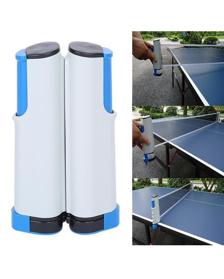 Retractable Table Tennis Ping Pong Net Rack - Grey